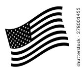 american flag vector icon | Shutterstock .eps vector #278001455