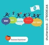 businesspeople running on... | Shutterstock .eps vector #278008166