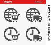 shopping icons. professional ... | Shutterstock .eps vector #278012255