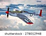 Render of a ww2 P-51D 3D model in flight - generic camouflage