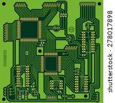 green printed circuit board ... | Shutterstock .eps vector #278017898