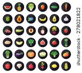 vegetable and fruit icons... | Shutterstock .eps vector #278021822