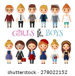young people in everyday... | Shutterstock .eps vector #278022152