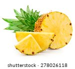 pineapple with slices isolated | Shutterstock . vector #278026118