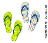 flip flops. vector. | Shutterstock .eps vector #27803350
