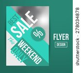 abstract vector creative sale... | Shutterstock .eps vector #278034878