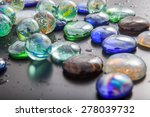 Glass Marble Balls And Glass...
