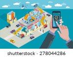 hands holding touchscreen smart ...   Shutterstock .eps vector #278044286