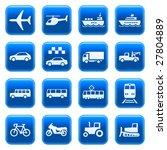 transportation icons on blue...   Shutterstock .eps vector #27804889