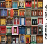 collage of old and colorful... | Shutterstock . vector #278053682