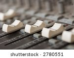 closeup of an audio mixer... | Shutterstock . vector #2780551
