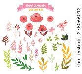 vector flowers set. colorful... | Shutterstock .eps vector #278066012