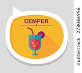 cocktail flat icon with long... | Shutterstock .eps vector #278066996