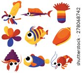 a colorful mix of different sea ... | Shutterstock .eps vector #278068742