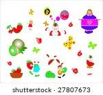 vector fruits and children   Shutterstock .eps vector #27807673