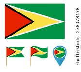 guyana icons for design with... | Shutterstock .eps vector #278078198