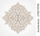 vector vintage pattern in... | Shutterstock .eps vector #278079998
