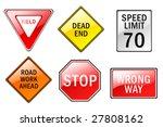 a set of six traffic sign... | Shutterstock .eps vector #27808162