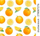 vector watercolor orange fruit... | Shutterstock .eps vector #278087276
