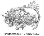 lotus elephant | Shutterstock .eps vector #278097662