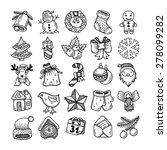 set of black and white sketch... | Shutterstock . vector #278099282