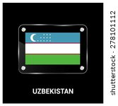 vector uzbekistan flag glass... | Shutterstock .eps vector #278101112