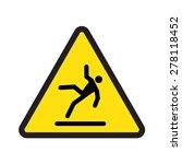 caution wet floor | Shutterstock .eps vector #278118452