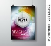 vector party flyer poster... | Shutterstock .eps vector #278121872