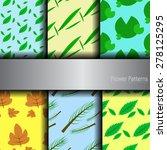 vector   6 sets of leaves... | Shutterstock .eps vector #278125295