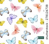 watercolor vector pattern with... | Shutterstock .eps vector #278126738