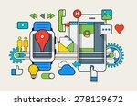smart watch vector infographic  ... | Shutterstock .eps vector #278129672
