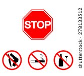 stop sign. set  alcohol ... | Shutterstock .eps vector #278133512