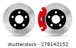 brake disc   vector isolated | Shutterstock .eps vector #278142152