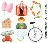 vector circus icons | Shutterstock .eps vector #278145326