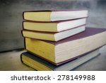 stack of old books | Shutterstock . vector #278149988