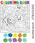 coloring book with sea animals... | Shutterstock .eps vector #278152202