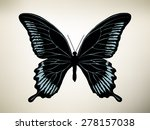butterfly. vector illustration | Shutterstock .eps vector #278157038