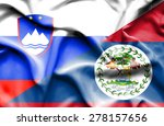 waving flag of belize and... | Shutterstock . vector #278157656