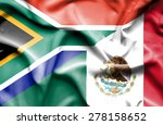 waving flag of mexico and south ... | Shutterstock . vector #278158652