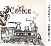 Coffee Vintage Background With...