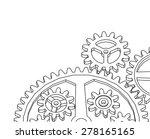 cogwheel gear mechanism vector... | Shutterstock .eps vector #278165165
