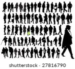 people  silhouette | Shutterstock .eps vector #27816790