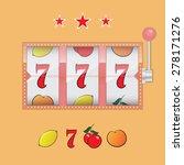 casino slot machine realistic... | Shutterstock .eps vector #278171276