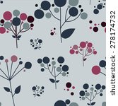 beautiful floral seamless... | Shutterstock .eps vector #278174732