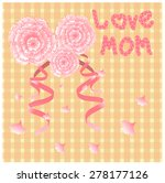 cute card with ribbon and sweet ... | Shutterstock .eps vector #278177126