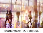 passenger at the airport ... | Shutterstock . vector #278181056