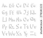 handwritten abc alphabet with... | Shutterstock .eps vector #278181122