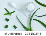 aloe vera cream spa body skin... | Shutterstock . vector #278181845