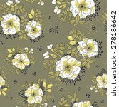 white wild roses on grey... | Shutterstock .eps vector #278186642