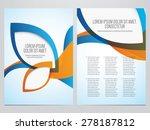 vector business brochure  flyer ... | Shutterstock .eps vector #278187812